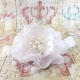 κορδελα βαπτισης White flower