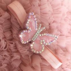 """κορδελα μαλλιων """"Diamante butterfly"""""""