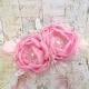 κορδελα μαλλιων Exclusive Baby pink Flowers