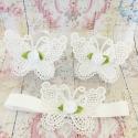 σανδάλια White butterfly white rose με κορδέλα