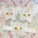 σανδαλια White butterfly peach rose με κορδελα