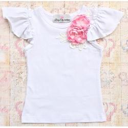 """Μπλουζακι """"Boutique flowers"""" pink"""