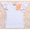 Μπλουζάκι Boutique flowers peach