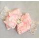 Premium lace romper set Baby pink