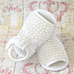 σανδαλια αγκαλιας White pearls