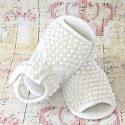 βρεφικά σανδάλια αγκαλιάς για κορίτσι White pearls