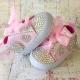 Παπουτσακια με κρυσταλλα Pink
