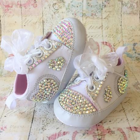 Παπουτσακια με κρυσταλλα White