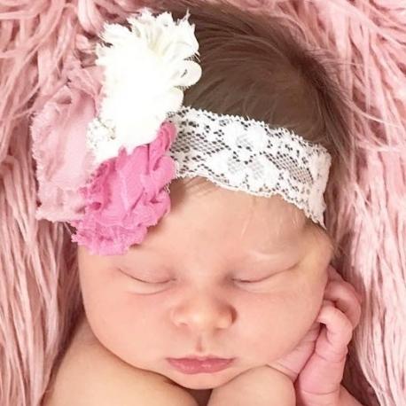 κορδελα μαλλιων dusty pink shabby bouquet