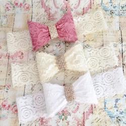 κορδελα μαλλιων Diamante lace bow