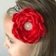 """κορδελα μαλλιων """"Red & leopard flower"""" 2"""