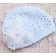 Πλεκτo σκουφακι White & white marabou