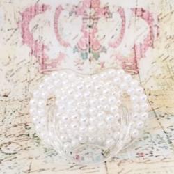 Πιπίλα Avent χειροποίητη με λευκές πέρλες