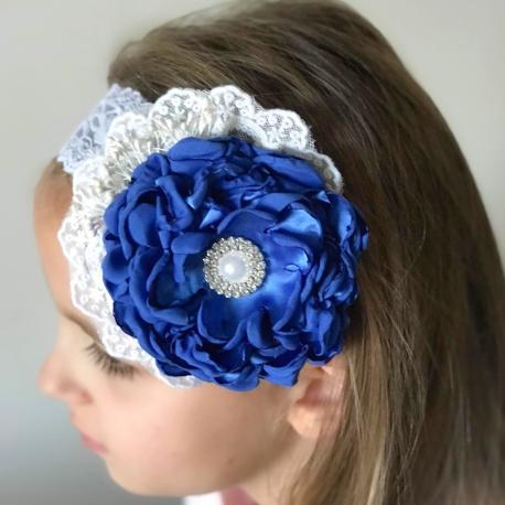 """κορδελα """"Blue"""" vintage flower"""