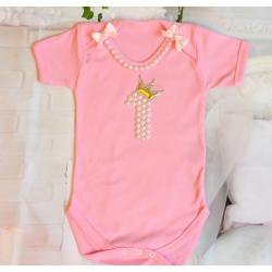 Φορμάκι Pearls and crown ροζ