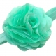 Satin tulle flower '' AQUA MINT''