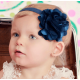 Satin tulle flower ''Navy blue''