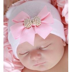 Σκουφάκι για νεογέννητο Pearl bow