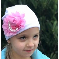 Σκουφάκι για κορίτσι Rose and pearls