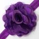 """κορδελα """"satin tulle flower""""purple"""