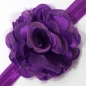 κορδέλα μαλλιών satin tulle flower purple