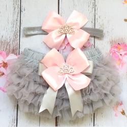 Καλυμμα πανας Silver and Pink με κορδελα