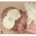 Κορδέλα μαλλιών shabby cream roses