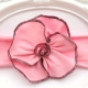 """κορδελα """"Organic flower"""" Pink"""