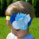 κορδέλα μαλλών Blue bouquet
