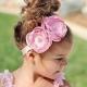 κορδέλα μαλλιών premium pink flowers