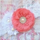 """κορδελα μαλλιων """"Coral pink bouquet"""""""