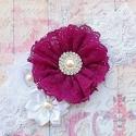 """κορδελα """" Plum lace bouquet"""""""