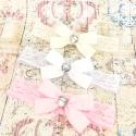 κορδέλες μαλλιών diamante satin bow