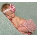 Κάλυμμα πάνας Dusty pink με σατέν κορδέλα