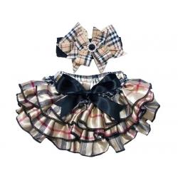 Κάλυμμα πάνας Burberry Style με κορδέλα