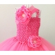 """φορεμα tutu """" Rose Pink"""" με κορδελα"""