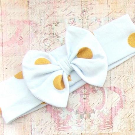 """κορδελα """"Gold dots bow"""""""