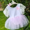 Βρεφικό φορμάκι Pink Tutu με κορδέλα