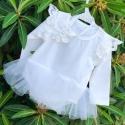 Βρεφικό φορμάκι tutu ιβουάρ με κορδέλα
