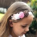 κορδέλα μαλλιών Premium multicolor roses