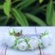 Στεφανάκι βάπτισης λευκά τριαντάφυλλα με πέρλες