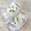βρεφικά σανδάλια αγκαλιάς για κορίτσι White rose