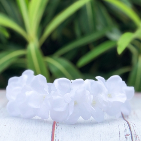 Στεφανάκι βάπτισης λευκή ορτανσία