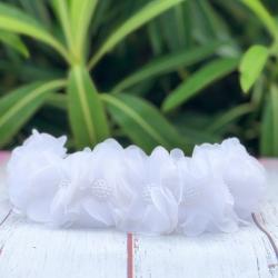 Κορδέλα μαλλιών στεφανάκι white flowers