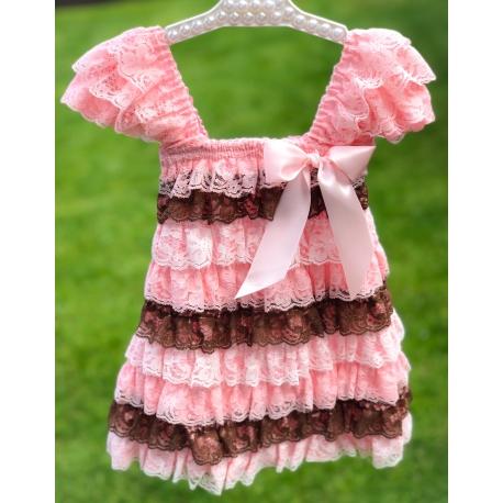 """φορεμα με δαντελα """"Multicolor"""""""