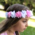Κορδέλα μαλλιών στεφανάκι pink and white
