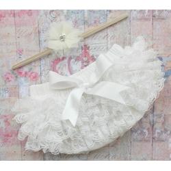 Κάλυμμα πάνας-φουστίτσα Ivory