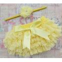 Κάλυμμα πάνας-φουστίτσα κίτρινο