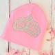 Σκουφακι ροζ με στρας κορωνα
