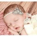 """κορδέλα μαλλιών """"Crown"""" pearls"""